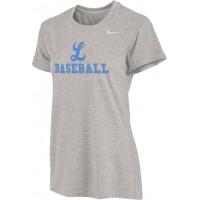 Lakeridge Baseball 12: Nike Legend Women's Short-Sleeve Training Top - Gray