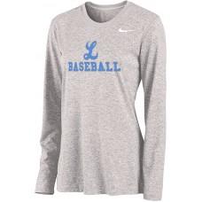 Lakeridge Baseball 15: Nike Legend Women's Long-Sleeve Training Top - Gray