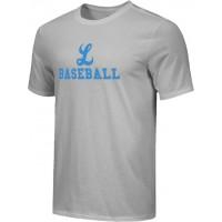 Lakeridge Baseball 16: Adult Size - Nike Combed Cotton Core Crew T-Shirt - Gray