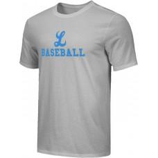 Lakeridge Baseball 17: Youth Size - Nike Combed Cotton Core Crew T-Shirt - Gray