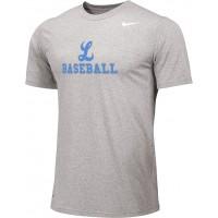 Lakeridge Baseball 10: Adult Size - Nike Team Legend Short-Sleeve Crew T-Shirt - Gray