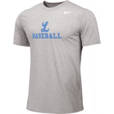 Lakeridge Baseball 11: Youth Size - Nike Team Legend Short-Sleeve Crew T-Shirt - Gray