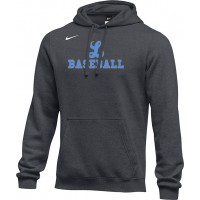 Lakeridge Baseball 18: Adult Size - Nike Team Club Fleece Training Hoodie (Unisex) - Anthracite Gray