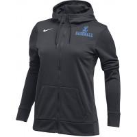 Lakeridge Baseball 21: Nike Women's Therma All-Time Hoodie Full Zip - Anthracite Gray