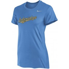 Lakeridge Baseball All-Stars 03: Nike Women's Legend Short-Sleeve Training Top - Light Blue