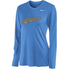 Lakeridge Baseball All-Stars 05: Nike Women's Legend Long-Sleeve Training Top - Light Blue