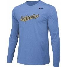 Lakeridge Baseball All-Stars 04: Adult Size - Nike Team Legend Long-Sleeve Crew T-Shirt - Light Blue