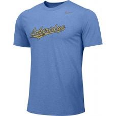 Lakeridge Baseball All-Stars 02: Youth Size - Nike Team Legend Short-Sleeve Crew T-Shirt - Light Blue