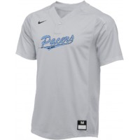 Lakeridge Fall Baseball 20: Backup Jersey - Nike Vapor 1-Button Laser Jersey - Gray with Graphics on Front and Back