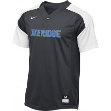 Lakeridge Baseball 41: Spare Jersey: M60 Majors/Minors - Adult Size - Nike Vapor 1-Button Laser Jersey - Anthracite Gray